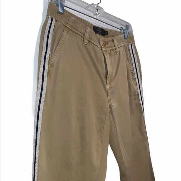 J. Crew Glitter Seam Chino Khaki Pants, 00
